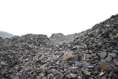 Piles of rocks at a Quarry Royalty Free Stock Photos