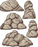 Piles of rocks. Vector clip art illustration with simple gradients. Each pile on a separate layer Royalty Free Stock Photography