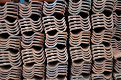 Piles roofs Indonesian people Stock Photo