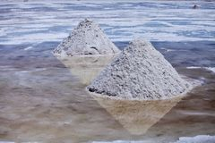 Piles of salt Stock Image