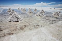 Piles of salt Stock Photo