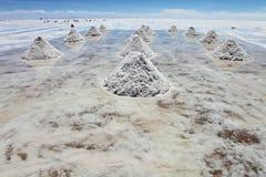 Piles of salt Royalty Free Stock Image