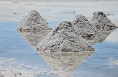 Piles of salt Royalty Free Stock Images