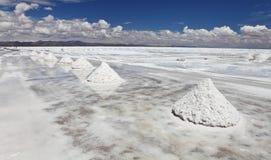 Piles of salt Royalty Free Stock Photos