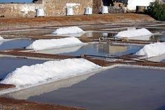 Piles of salt Stock Photos