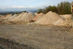 Piles of sand Stock Photos