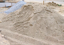 Piles sand and gravel Royalty Free Stock Photography