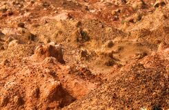 Piles of the sand in a quarry. Piles of the brown sand in a quarry - environmental concept photo Stock Photo