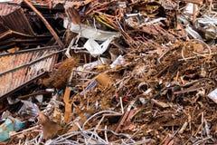 Piles of scrap metal bundled in bales Royalty Free Stock Photos
