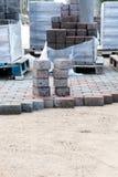 Piles of sidewalk brick Royalty Free Stock Photo