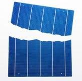 Piles solaires cassées Photos stock