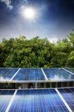 Piles solaires photographie stock libre de droits