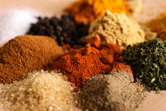 Piles of spices Stock Photo