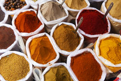 Piles of spices. Royalty Free Stock Photo