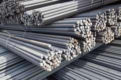 Piles of steel poles