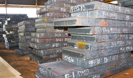 Piles of steel sheet Royalty Free Stock Photo