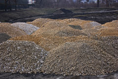 Piles of stone Royalty Free Stock Photo