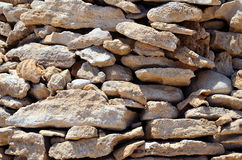 Piles of stones marsa alam Royalty Free Stock Photo