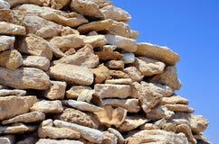 Piles of stones marsa alam Stock Image