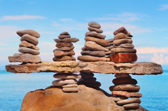 Piles of stones Royalty Free Stock Photo