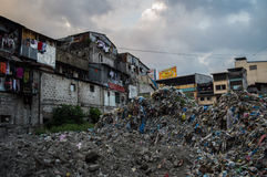 Piles of Trash in Manila Stock Image