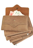 Piles up wallet Royalty Free Stock Photos