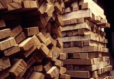 Piles of Wood Stock Image