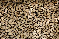 Piles of wood Royalty Free Stock Images