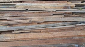 Piles of wood placed an order Royalty Free Stock Photos