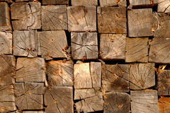 Piles of wood texture Royalty Free Stock Photos