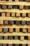Piles of wooden pieces Stock Images