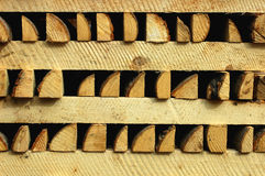 Piles of wooden pieces Royalty Free Stock Image