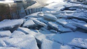 Pileup. Broken river ice colliding Stock Image