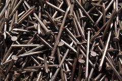 Pileup of nails Stock Photo