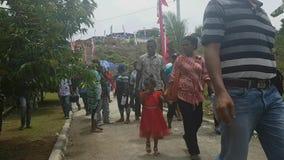 Pilger auf Mansinam stock video footage