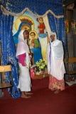 Pilger an der Adadi Maryam Kirche Äthiopien Stockfoto