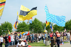 Pilger mit Flaggen, Weltjugend-Tag 2016 Lizenzfreies Stockbild