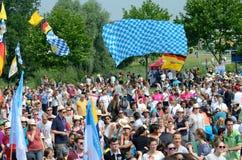 Pilger mit Flaggen, Weltjugend-Tag 2016 Lizenzfreie Stockfotos