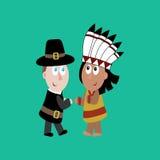 Pilger und indische Illustration Lizenzfreies Stockfoto