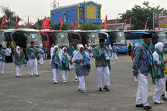 Pilger von Indonesien lizenzfreies stockbild