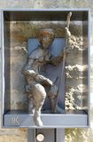Pilger zu Santiago de Compostela lizenzfreie stockfotos