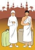 Pilgerfahrt zum Mekka Stockfoto