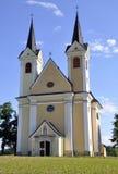 Pilgerfahrtkirche heiliges Kreuz, Österreich Stockbild