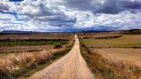 Pilgerweg entlang Camino De Santiago stockfotos