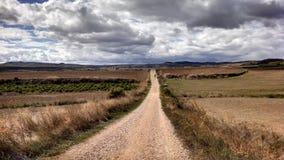 Pilgerweg entlang Camino De Santiago lizenzfreies stockbild