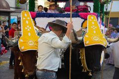 Pilgimage in Dos Hermanas Seville 55 Stock Afbeeldingen