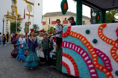 Pilgimage in Dos Hermanas Seville 59 Immagini Stock Libere da Diritti