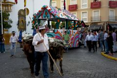 Pilgimage in Dos Hermanas Seville 81 Stock Afbeelding