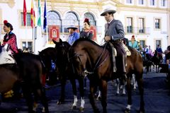 Pilgimage i Dos Hermanas Seville 19 Arkivbild
