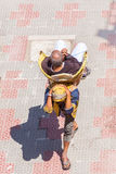 A Pilgrim being carried in Uttarakhand, North India Stock Photo